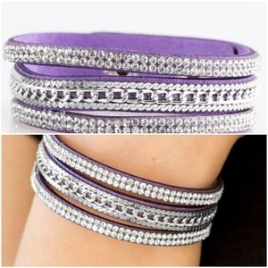 UNSTOPPABLE PURPLE SNAP BRACELET